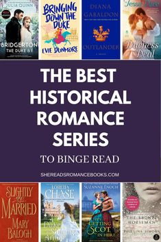 Suffering Bridgerton withdrawal? Check out these binge-worthy historical romance series to read while you wait for the next Bridgerton season! Must Read Novels, Best Books To Read, Good Books, Historical Romance Authors, Outlander Novel, Good Romance Books, Book Boyfriends, Love Book, Book Recommendations