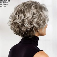 Meryl WhisperLite® wig by Paula Young® - no longer dye gray hair! - Haaar - Meryl WhisperLite® wig by Paula Young® – no longer dye gray hair! Grey Curly Hair, Curly Hair Cuts, Curly Bob Hairstyles, Short Curly Hair, Short Hair Cuts, Curly Hair Styles, Hairstyles Men, 4b Hair, Natural Hairstyles