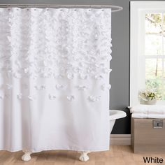 The Gray Barn Dogwood Shower Curtain Ivory Lush Decor