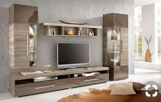 Wonderful wall unit designs for living room [post_tags Wall Unit Designs, Tv Wall Design, Tv Unit Design, Tv Unit Furniture, Living Furniture, Home Furniture, Living Room Bar, Home And Living, Living Room Designs