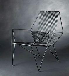 Iron Furniture, Smart Furniture, Steel Furniture, Sofa Furniture, Furniture Design, Office Chairs For Sale, Woven Chair, Lounge Chair Design, Miniature Furniture