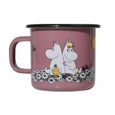 Muurla Moomin Moomin Retro Together Forever Enamel Mug 370ml Pink