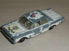MATCHBOX SERIES BY LESNEY -  No 55 / 59 -  FORD GALAXIE POLICE CAR  - http://www.matchbox-lesney.com/44554