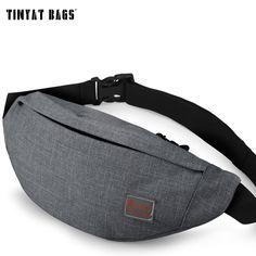 TINYAT 남성 남성 캐주얼 기능 패니 가방 허리 가방 돈 전화 벨트 가방 T201 그레이 블랙