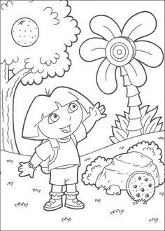 A4 Kleurplaten Dora.15 Top Dora Images Coloring Pages For Kids Printable Coloring