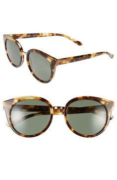 Tory+Burch+53mm+Polarized+Retro+Sunglasses+available+at+#Nordstrom