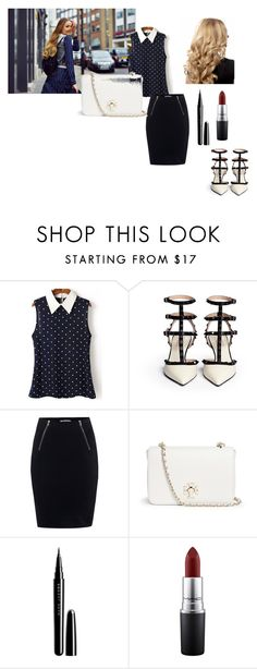 """""""business"""" by rosesophiawalker ❤ liked on Polyvore featuring T By Alexander Wang, Tory Burch, Marc Jacobs and MAC Cosmetics"""