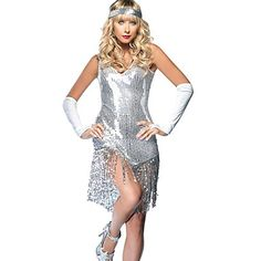 Flapper Gatsby Girl Costume - Get ready to be the talk of the night! Every guy will desire to be the date of this Gatsby Girl! The Gatsby Girl Flapper Women Costume includes sparkling . Flapper Girls, Flapper Girl Costumes, Halloween Costumes For Girls, Indian Costumes, Girl Halloween, Flapper Outfit, Gangster Costumes, Ladies Costumes, Dance Costumes