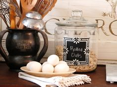 How to make your own chalkboard canisters