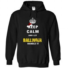Keep Calm And Let BALLINGER Handle It - #tshirt outfit #cropped sweatshirt. LOWEST SHIPPING => https://www.sunfrog.com/Names/Keep-Calm-And-Let-BALLINGER-Handle-It-2896-Black-Hoodie.html?68278