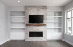 5 Simple Ideas to Improve Your Dining Room Design – Voyage Afield Fireplace Tv Wall, Basement Fireplace, Fireplace Built Ins, Fireplace Design, Fireplace Remodel, Fireplace Ideas, Living Room Tv, Living Room Remodel, Living Room With Fireplace