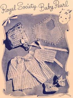 Shell Stitch Baby Outfit Vintage Crochet Pattern for download