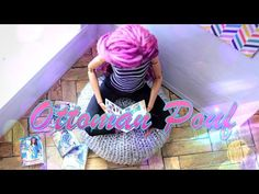 How to Make a Doll Ottoman Pouf - EASY DOLL CRAFTS - YouTube