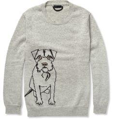 Burberry ProrsumDog-Patterned Cashmere Sweater|MR PORTER