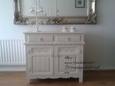beautiful hand painted cabinet in annie sloan old white