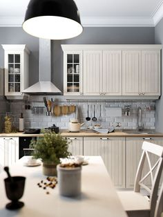Beautiful kitchen decor kitchen room sets,unit kitchen designs latest kitchen design images,ready made kitchen cabinets where to find design your own kitchen floor plan. Scandinavian Interior Design, Scandinavian Living, Kitchen Interior, Kitchen Decor, Sweet Home, White Kitchen Island, Home And Deco, Kitchen Tiles, Kitchen Cook