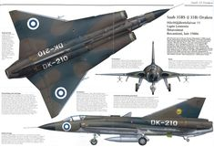 """Saab 35 Draken """"the dragon"""" (an effective supersonic Cold War fighter)"""