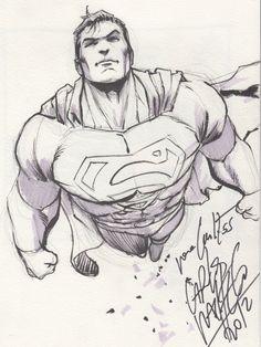 Original Comic Art titled Superman, located in Carlos's Pacheco, Carlos Comic Art Gallery Character Drawing, Comic Character, Character Design, Superman Comic, Comic Books Art, Comic Art, Book Art, Dc Comics Art, Marvel Dc Comics
