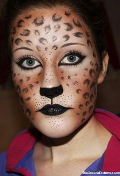 leopard makeup - Halloween Costumes 2013