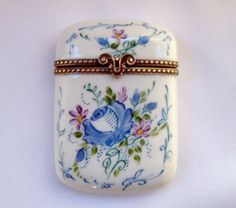 Limoges France Peint Main Trinket Box Floral | eBay