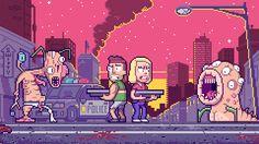 PixelArtus — Rick and Morty - Pixel Art Intro Full...