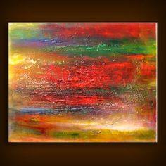 art painting original abstract retro abstract texture painting 22 x 28 modern wall decor Mattsart