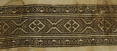 Coptic. Fragment of Linen with Border, 7th-9th century C.E. Linen, silk, 9 1/16 x 21 5/8 in. (23 x 55 cm). Brooklyn Museum, Gift of Pratt Institute, 46.157.18.