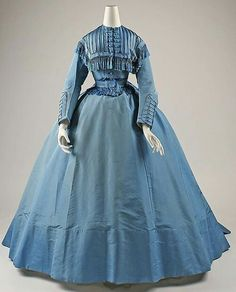 Vintage Antique Day Dress 1860.