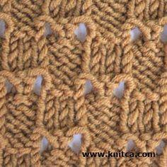 Wrong side of knitting stitch pattern – Lace 10 : www.knitca.com