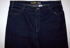 Mens LEVIS SilverTab Low + Loose Blue Denim Jeans Size 42 x 32 Dark Wash #Levis #LowLoose