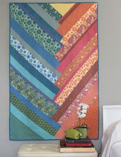Full Tilt quilt by Weeks Ringle and Bill Kerr. Modern Quilt Studio.