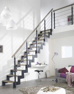 Rampe escalier sur pinterest - Escalier loft lapeyre ...