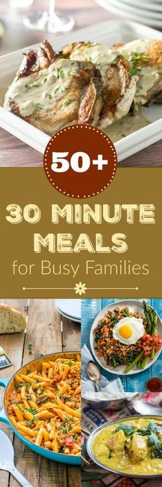 58 Healthy 30 Minute Meals for Busy Families. With over 50 great ideas for healthy 30 minute meals, dinner will be on the table in no time. No matter what you crave, I have gathered together some marvelous inspiration for chicken, seafood, meat, vegetarian, pasta & gnocchi, and simple weekend meals. #30minutemeals #recipes #thecookspyjamas #healthy #easy #chicken #beef #vegetarian #seafood #pasta #gnocchi #families