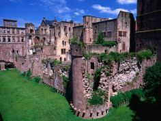 Ruins of Heidelberg castle in Germany.