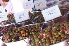 Azeitonas na feira de Santa María del Camí - Isla de Mallorca - Espanha