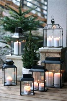 Christmas Candle Lanterns - Industrial Interior Design