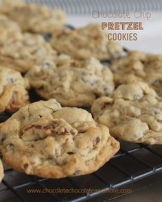 Chocolate Chip Pretzel Cookies, the prefect alternative for those with Nut allergies. Oh and the salty from the pretzel gives these cookies the perfect sweet/salty combination!