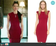 Isabelle's red sleeveless dress on Shadowhunters.  Outfit Details: https://wornontv.net/65122/ #Shadowhunters