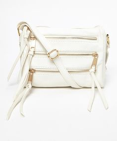 Look at this #zulilyfind! Yoki White Zipper Crossbody Bag by Yoki #zulilyfinds