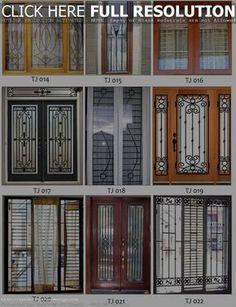 Simple Window Grill Designs Sas Pinterest Doors