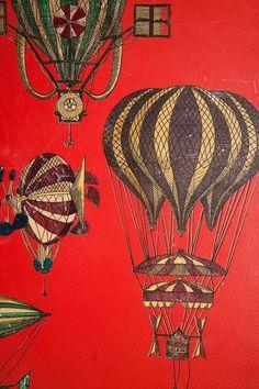 Hot Air Balloon wallpaper by Piero Fornasetti