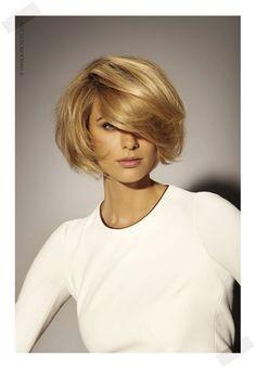 kobieca fryzura Włosy średniej długości, średnie, 2016,2017, fryzura wiosna lato