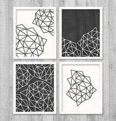 "Printable Art, Geometric Digital Printable Wall Art Print 8""x10"" Set (Jpeg Files) - INSTANT DOWNLOAD - V248"