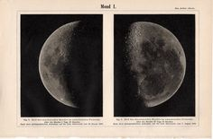 1894 full moon phases original antique celestial astronomy print