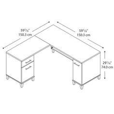 office desk size. bush wc81730k somerset 60 office desk size s