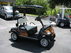 48 best golf carts images atv, atvs, dirtbikes Golf Cart Transformer 2005 hdk 48 volt golf cart golf cart , custom flame paint job for sale in