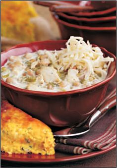 Don't-Be-A-Chicken Chili  from Gooseberry Patch's Halloween book.
