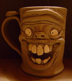 Wheel Thrown And Hand Sculpted Ogre Coffee Mug WIP