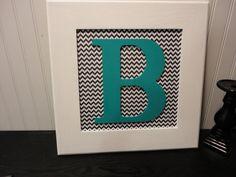 17x17 framed letter art
