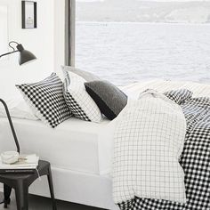 [BEDLINEN] : Loving this pic via @countryroad have always had a thing for their bedding range. I have to confess I do love my ginham checks also